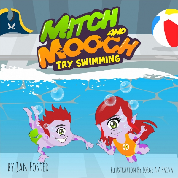 Mitch and Mooch Try Swimming